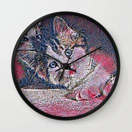 GlitzyAnimal_Cat_001_by_JAMColors Wall Clock