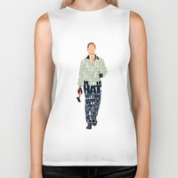 ryan gosling Biker Tanks featuring Ryan Gosling by Ayse Deniz