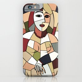 Woman with Kindle #5 iPhone Case