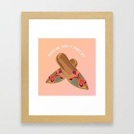 Shoes Off Framed Art Print