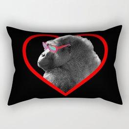 Gorilla heart Rectangular Pillow