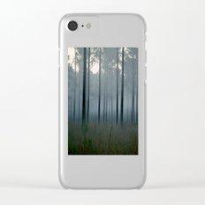 cold rain Clear iPhone Case