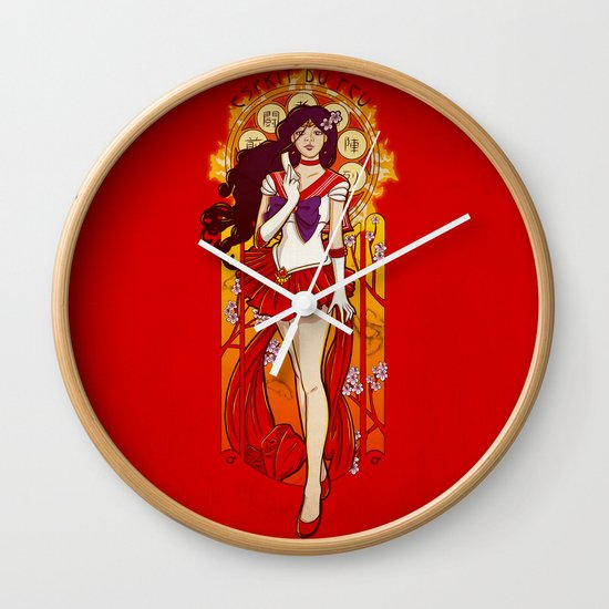 Spirit of Fire - Sailor Mars nouveau Wall Clock