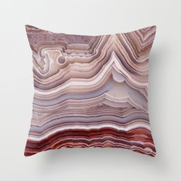 Agate Crystal Throw Pillow