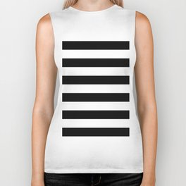 Black & White Stripes- Mix & Match with Simplicity of Life Biker Tank
