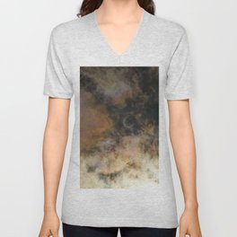 Solar Eclipse and Clouds Unisex V-Neck