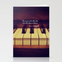 mozart Stationery Cards featuring Mozart Music by KimberosePhotography