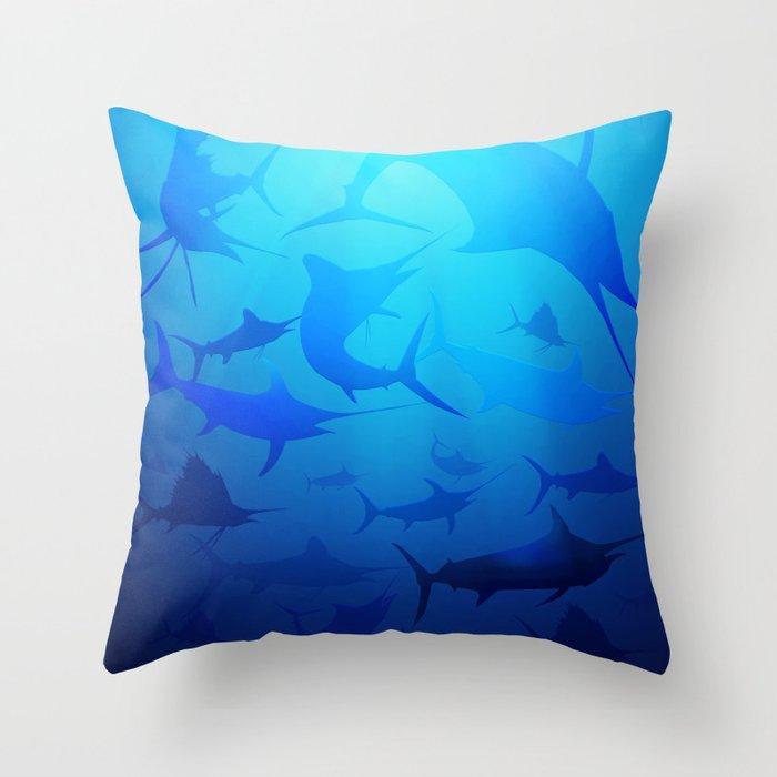 Billfish Band Throw Pillow