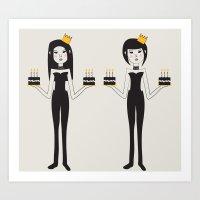 Birthday Twins Art Print