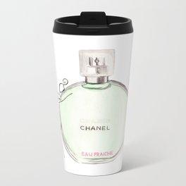 Green parfum with girl Metal Travel Mug