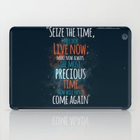 """picard iPad Cases featuring """"Live now; make now always the most precious time. Now will never come again"""" Captain Picard by Elizabeth Cakovan"""