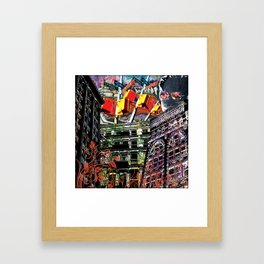 Working for the city... Framed Art Print