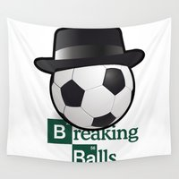 breaking Wall Tapestries featuring Breaking Bad parody: breaking balls by logoloco