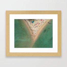 Aerial Koh Phangan Beach Thailnad Framed Art Print