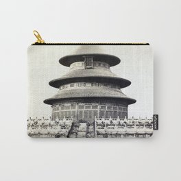 Sacred Temple of Heaven Where the Emperor Sacrifices Once a Year in the Chinese City of Pekin 1860 Carry-All Pouch