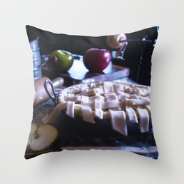 Apple Pie in the Making Throw Pillow