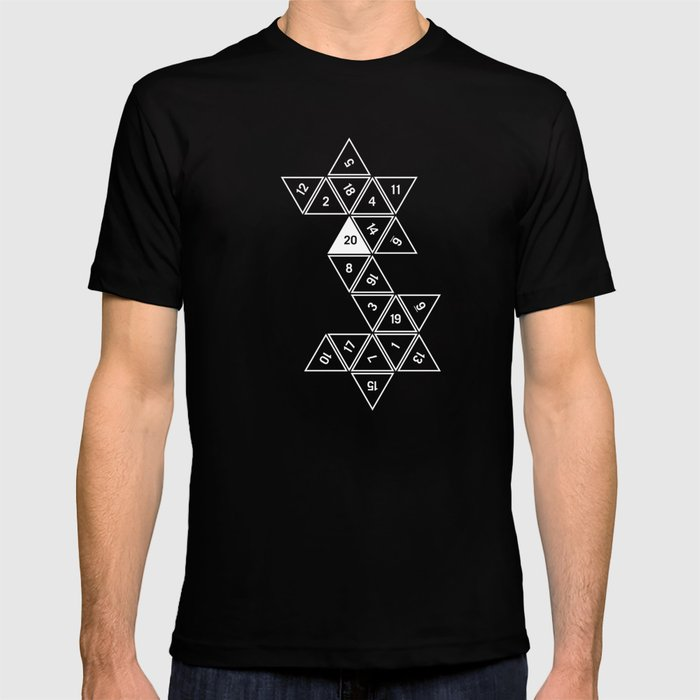 Unrolled D20 T-shirt