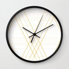 Art nouveau geometry Wall Clock