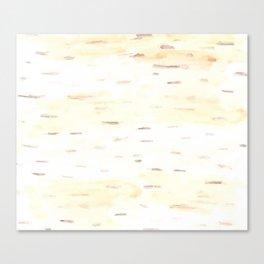 Birch Bark Watercolor Canvas Print