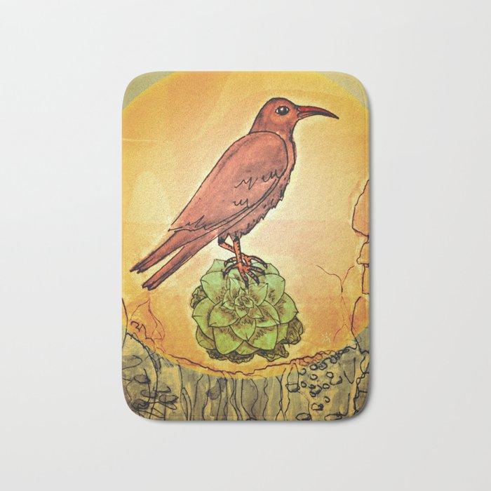 NATURE / BIRD and SUCCULENT Bath Mat