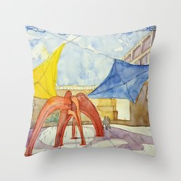 CCB. Sculpture in the pateo. Art Centre. Throw Pillow