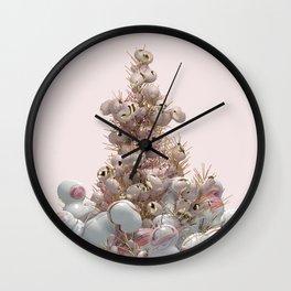 Pink Christmas Wall Clock