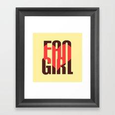 FAN GIRL Framed Art Print