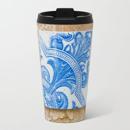One blue Portuguese tile Travel Mug