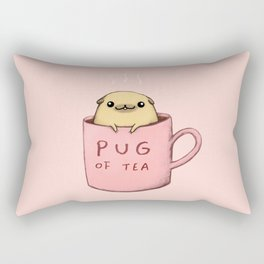 Pug of Tea Rectangular Pillow