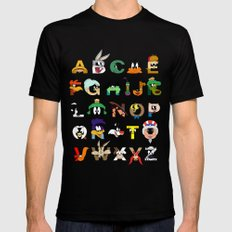 That's Alphabet Folks Black X-LARGE Mens Fitted Tee