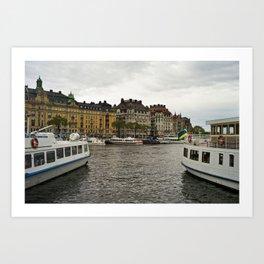 Stockholm, Sweden boats Art Print