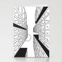 buildings Stationery Cards featuring Buildings by Koral Feria
