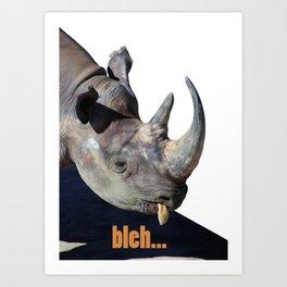 Rhino bleh Art Print
