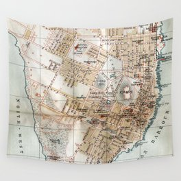 Vintage Map of Halifax Nova Scotia (1890) Wall Tapestry