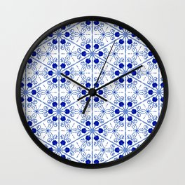 Delft Pattern 2 Wall Clock