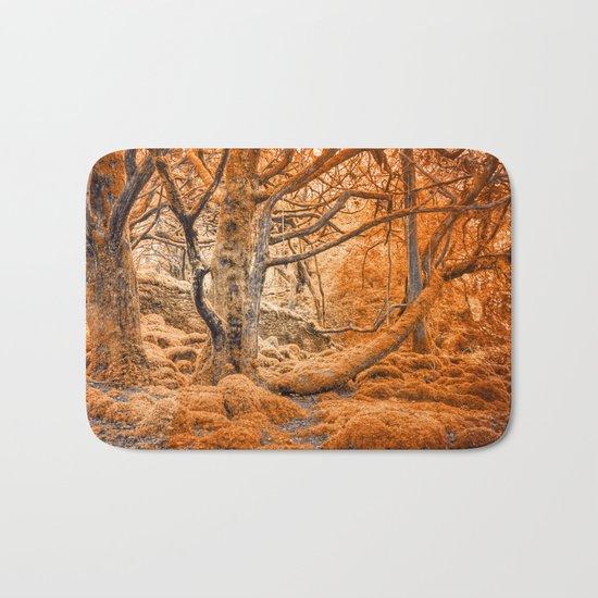 Glowing Amber Forest Bath Mat