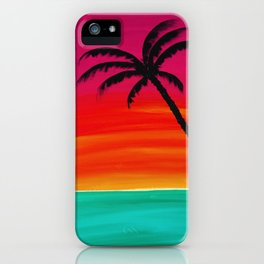 Sunset Palm 2 iPhone Case
