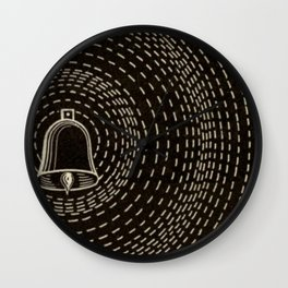 Vintage Sound Waves Wall Clock