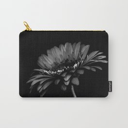 Daisy gerbera. Black and white Carry-All Pouch