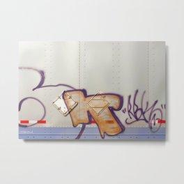 Desert Graffiti Abstract Letter Design Metal Print