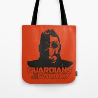 starlord Tote Bags featuring Starlord by bookotter