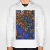 maps Hoodies featuring Funky Maps, NEW YORK by MehrFarbeimLeben