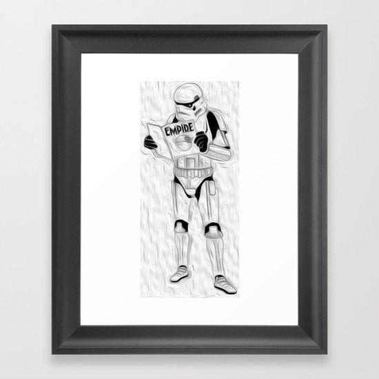 trooper empire Framed Art Print
