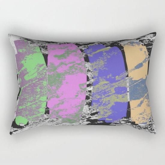 All 4 One - Abstract, textured artwork Rectangular Pillow