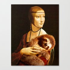 Lady With A Sloth Canvas Print