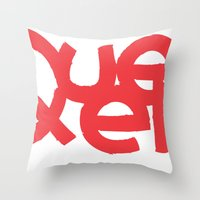 queens of the stone age Throw Pillows featuring Queens by Pamalope