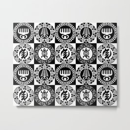 Adinkra  Metal Print
