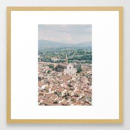Overlooking Florence Framed Art Print