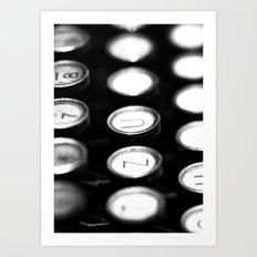 TYPEWRITER KEYS Art Print