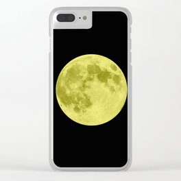 MOON GLOW YELLOW Clear iPhone Case